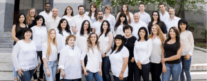 no hassle dentistry office staff and dentists image