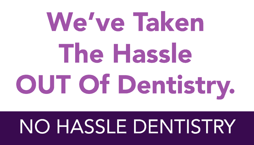 No Hassle Dentistry home page info box no hassle dentistry image