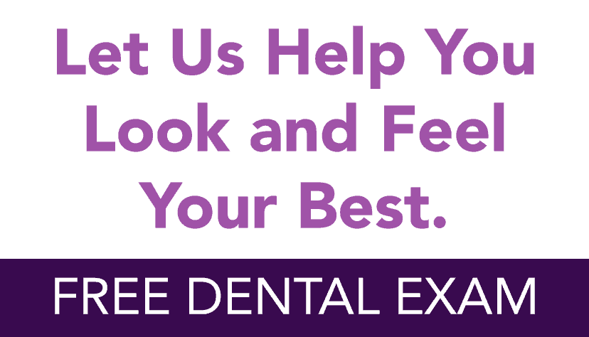 No Hassle Dentistry home page info box free dental exam image