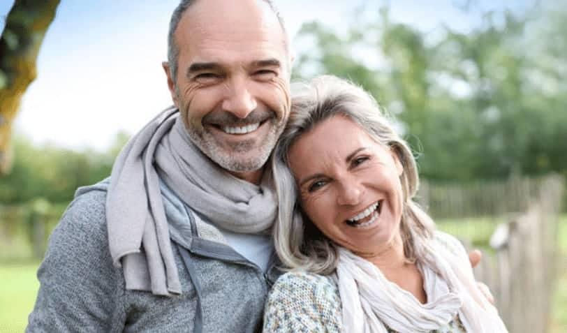 no hassle dentistry smiling seniors